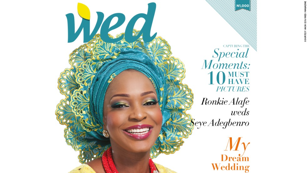 "<strong>WED Magazine</strong><br /><br />When several months of meticulous planning culminates in the perfect wedding, many couples want to publicly show off their nuptials in one of Nigeria's many wedding-focused magazines. Hiring a page in WED Magazine, one of Nigeria's most popular bridal publications, costs $1,000, and the minimum a couple can take is four. <br /><br />""It's part of our culture,"" says Akin Eso, the magazine's publisher. ""People want others to see how beautiful their wedding has been -- it's a sign of pride,"" he adds. ""The difference between Nigerian weddings and those abroad is that here people usually live with their parents before getting married, so in a way it's like saying good bye,"" he says, adding that the booming wedding industry is providing fresh jobs for young people.<br />"
