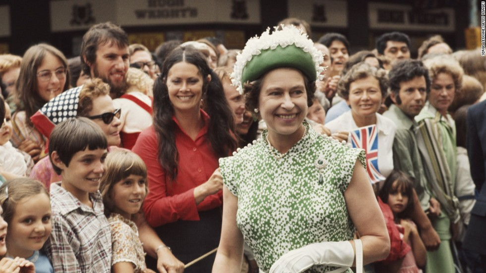 Queen Elizabeth II was warmly greeted by crowds during her Royal Tour of New Zealand in 1977, the year she celebrated her Silver Jubilee.