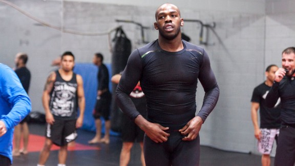 "UFC champion Jon ""Bones"" Jones prepares for a 2014 training session in Albuquerque, New Mexico."