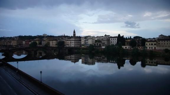Michelle McLemore fell in love with how serene the Arno River looked from her Florence, Italy, hotel balcony. But the river hasn't always been so calm and peaceful. Its floodwaters devastated Florence in 1966, damaging priceless works of art, books and monuments throughout the city -- not to mention killing 39 people and leaving thousands homeless.