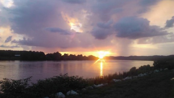 """Beth Woods grew up on the banks of the Ohio River in Ironton, Ohio. """"Everything that I think of when I hear the word 'home' is in that river,"""" she said. The Ohio River flows from Pennsylvania to Illinois."""