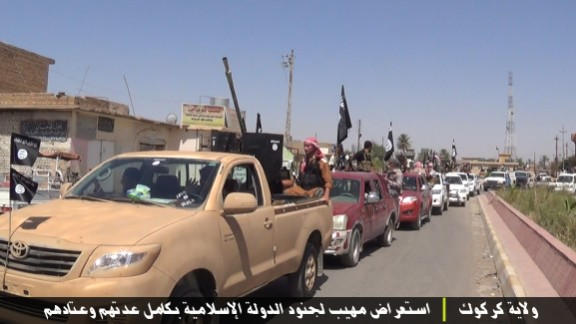 Images of an ISIS parade in the Kirkuk Province