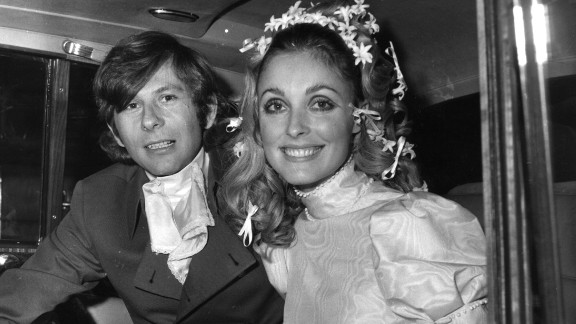 Polanski and Tate at their wedding in January 1968. Tate was eight months pregnant at the time of her death.