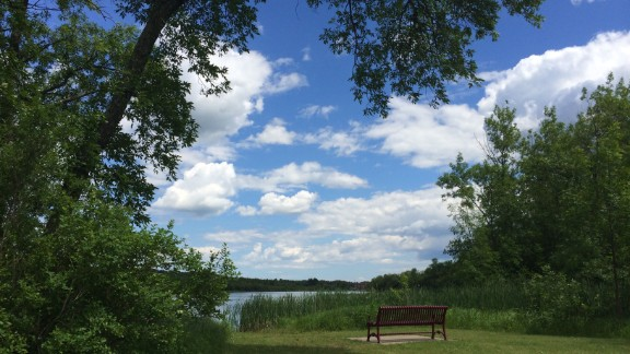 For 2014's Fourth of July weekend, Funda Ray went camping by the Saint Louis River in Cloquet, Minnesota. She said the river's calm waters that day made it an excellent place to go fishing and canoeing.