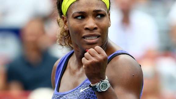 Serena Williams had to battle hard to get past the challenge of Caroline Wozniacki in Montreal