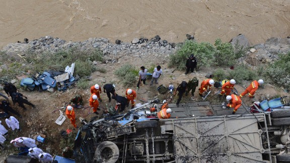 Xinhua reported that the bus carryied about 40 people.