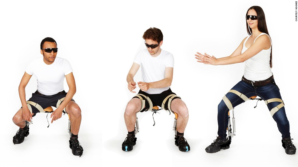 "The team behind the Chairless Chair, a Zurich-based startup called <a href=""http://www.noonee.ch/"" target=""_blank"">noonee</a>."