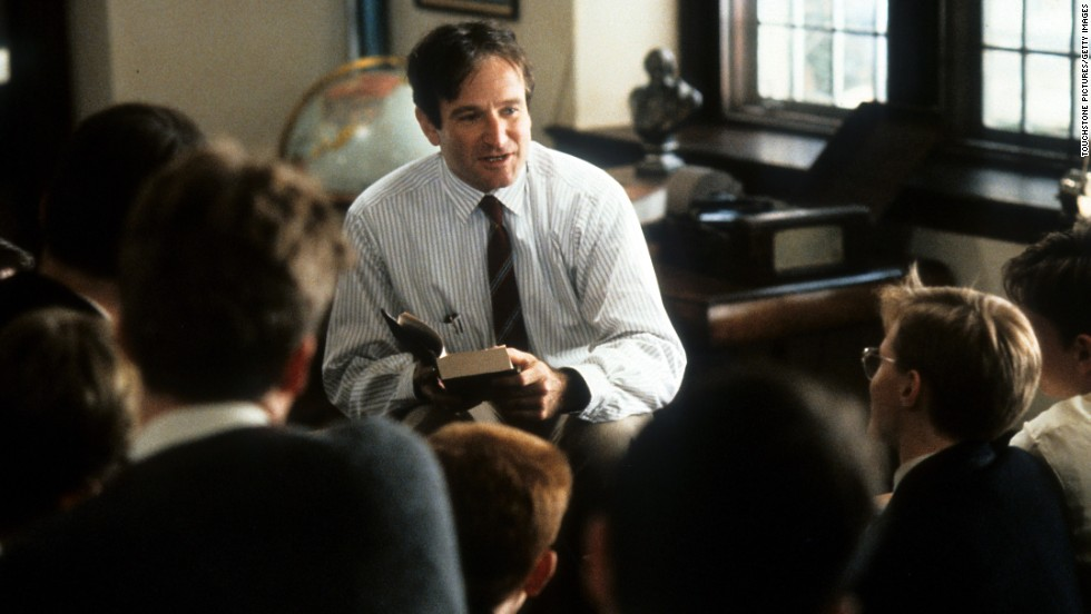 "Williams portrayed a teacher in the movie ""Dead Poets Society"" in 1989, one of his first mostly dramatic roles."