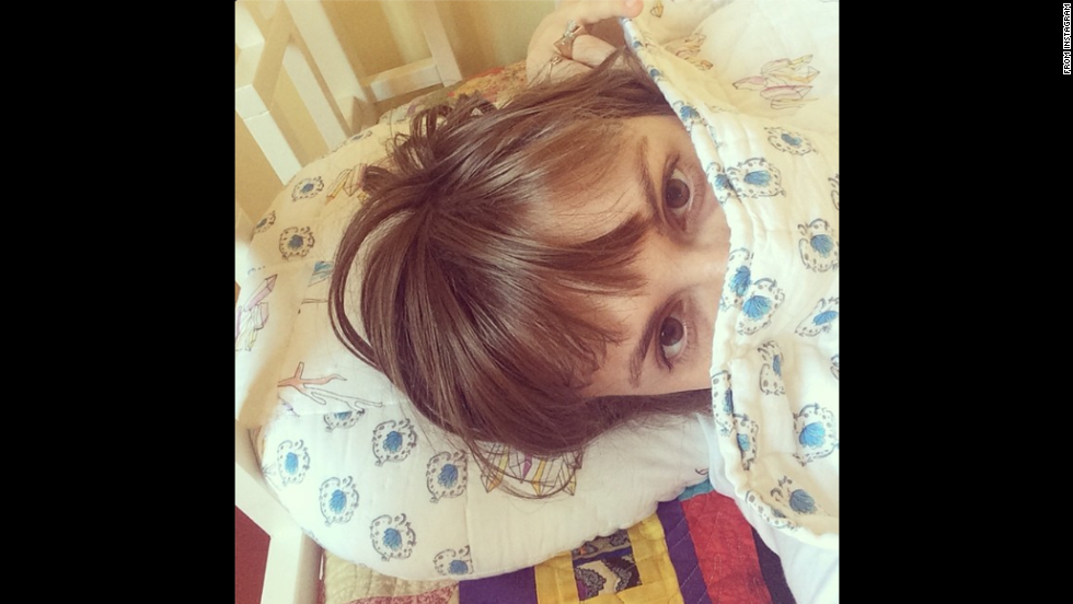 "Actress Lena Dunham <a href=""http://instagram.com/p/rZjj8Ei1Nd/"" target=""_blank"">posted this selfie</a> to her Instagram account Thursday, August 7, with the following message: ""summertime sickness made infinitely more bearable by matching pillow & quilt by @toujourstoi_familyaffairs #aestheticsasmedicine"""
