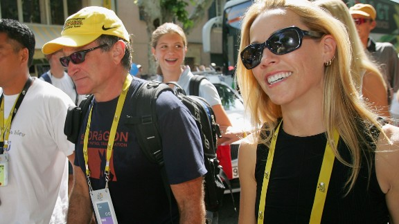 Williams at the 2004 Tour de France with Armstrong's then girlfriend Sheryl Crow.