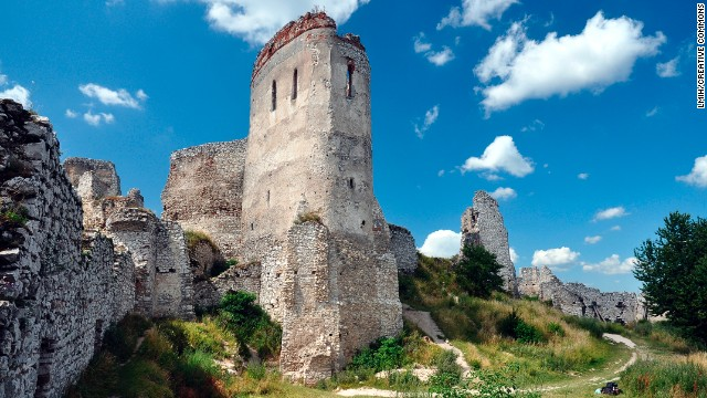 The residential Tower at Cachtice Castle where Elizabeth Bathory died