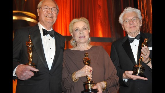 Roger Corman, Lauren Bacall and Roger Willis at the Academy of Motion Picture Arts and Sciences inaugural Governors Awards in 2009.