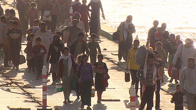 Yazidis flee persecution from ISIS