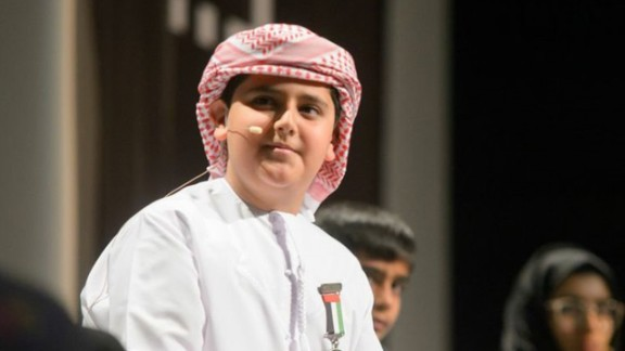 Adeeb Alblooshi, a 10-year-old inventor from the United Arab Emirates, created a waterproof prosthetic leg for his father when he was six.