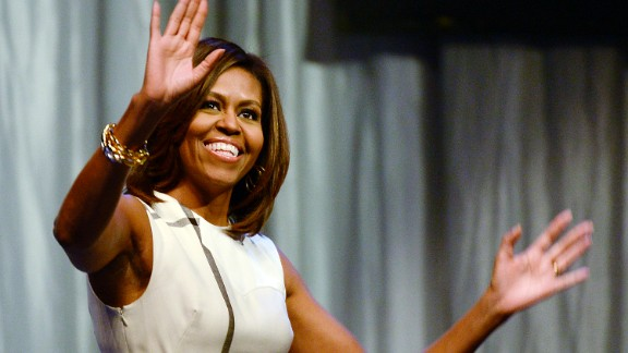 Michelle Obama still enjoys high approval ratings: 61%, as of a CNN poll in May.