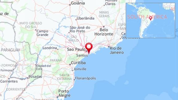 Map: Brazil plane crash
