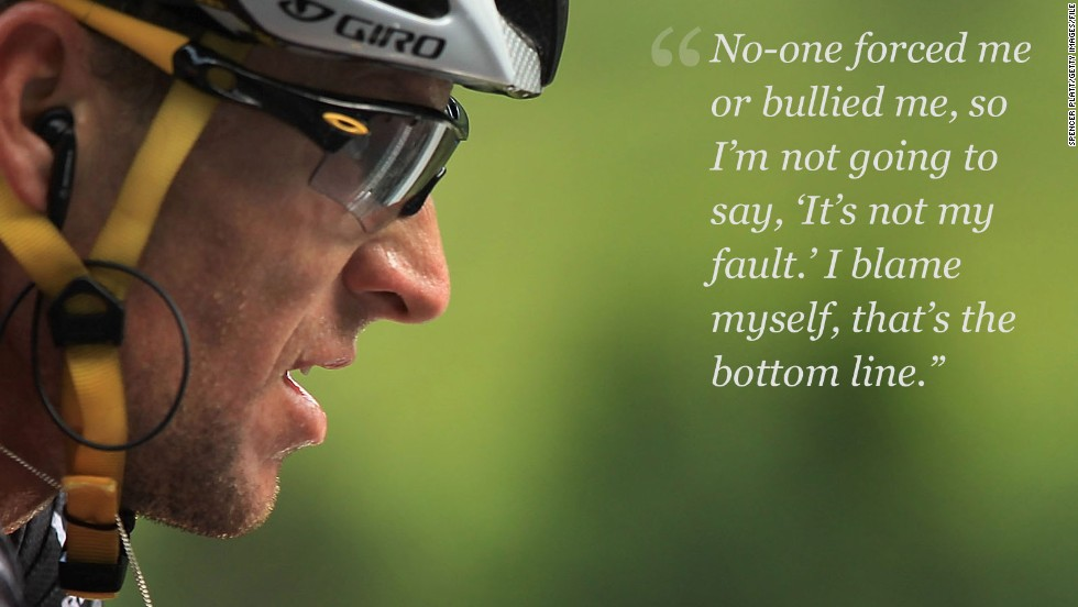 armstrong on blame