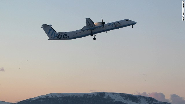 The incident involved a Flybe airline turboprop plane taking off from Belfast City Airport.