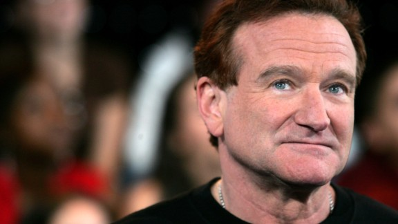 Caption:NEW YORK - APRIL 27: (FILE PHOTO) (US TABLOIDS OUT) Actor Robin Williams appears onstage during MTV