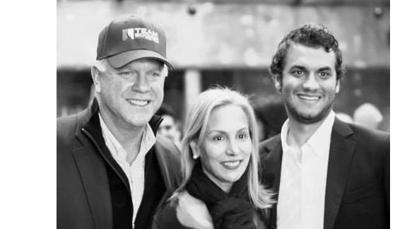 Gunnar with his dad Boomer and mom Cheryl at a recent Boomer Esiason Foundation event.