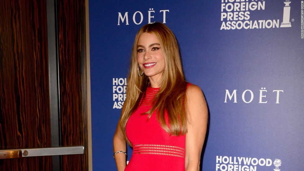 Sofia Vergara is a lady in red on August 14 in Beverly Hills, California.