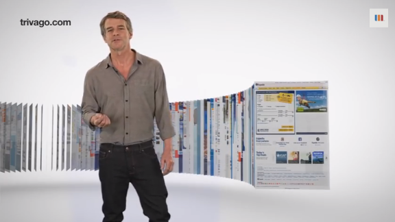 """Trivago Guy"" Tim Williams used to look like this in his ads for the travel website."