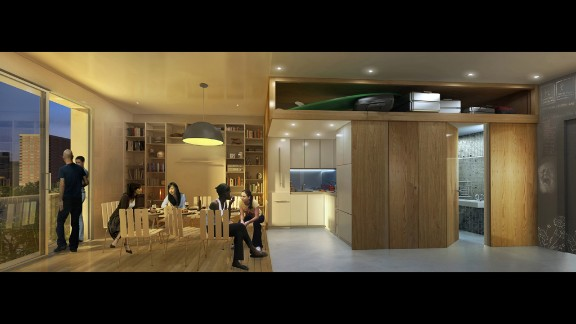 Micro-condos are on the rise in urban centers across North America, including New York City. After winning the adAPT NYC apartment design competition in 2013, nArchitects was awarded a city contract to build a micro-condo pilot that could address the city's changing housing needs. My Micro NYC, which should be completed next year, will have 55 units between 250 and 370 square feet.