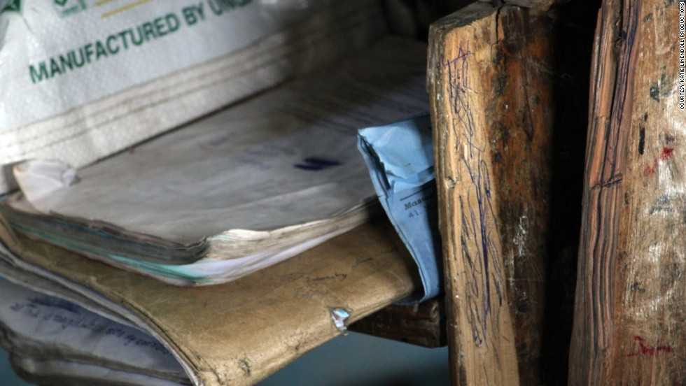 Well-meaning donors often give traditional bound books to schools in Kenya, but the paper doesn't fare well in the humid climate. Some books don't last more than a few years.