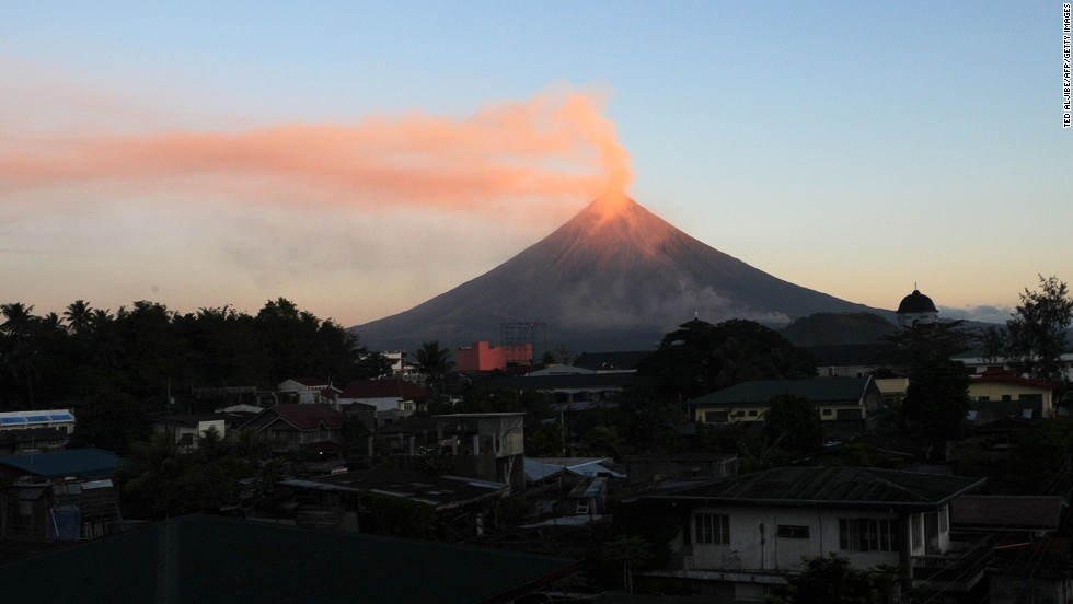 Mayon in the Philippines is known for its perfect conical shape. Any angle provides a stunning picture.