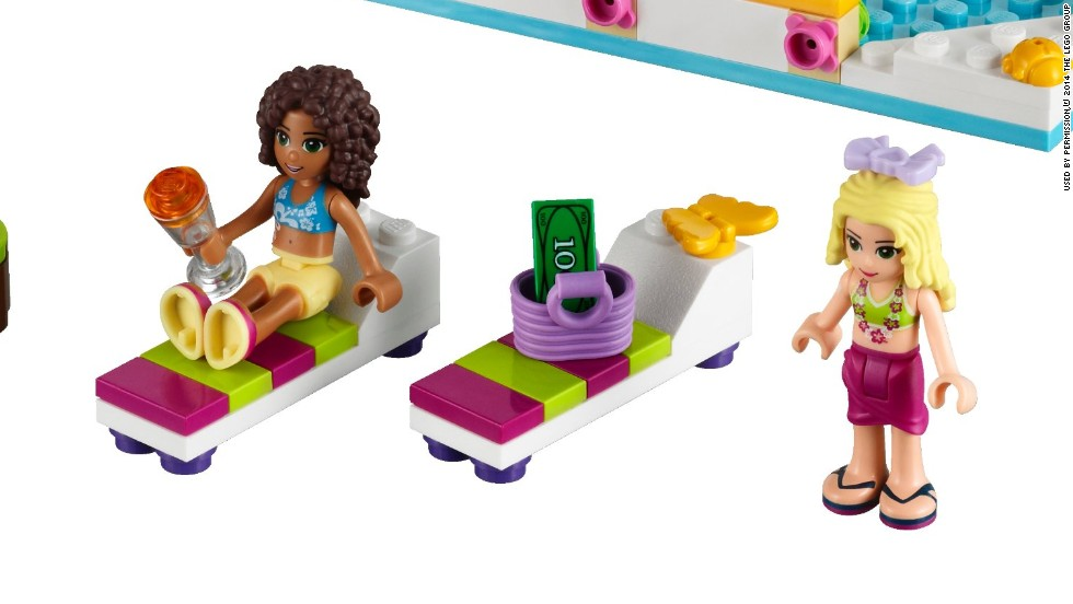 Lego's previous Friends sets, released in 2011, also targeted girls. They featured everything from a bakery to a pet salon and a juice bar.