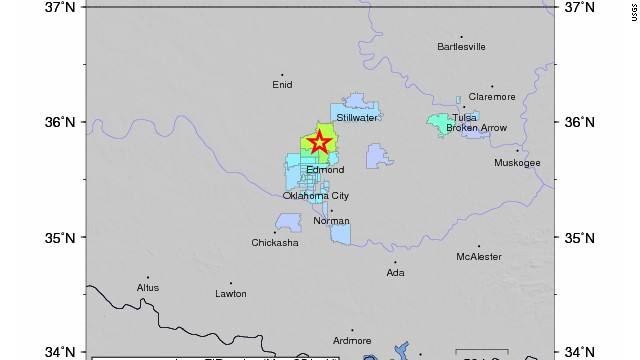 A 4.2-magnitude earthquake struck central Oklahoma early Tuesday, the USGS said.