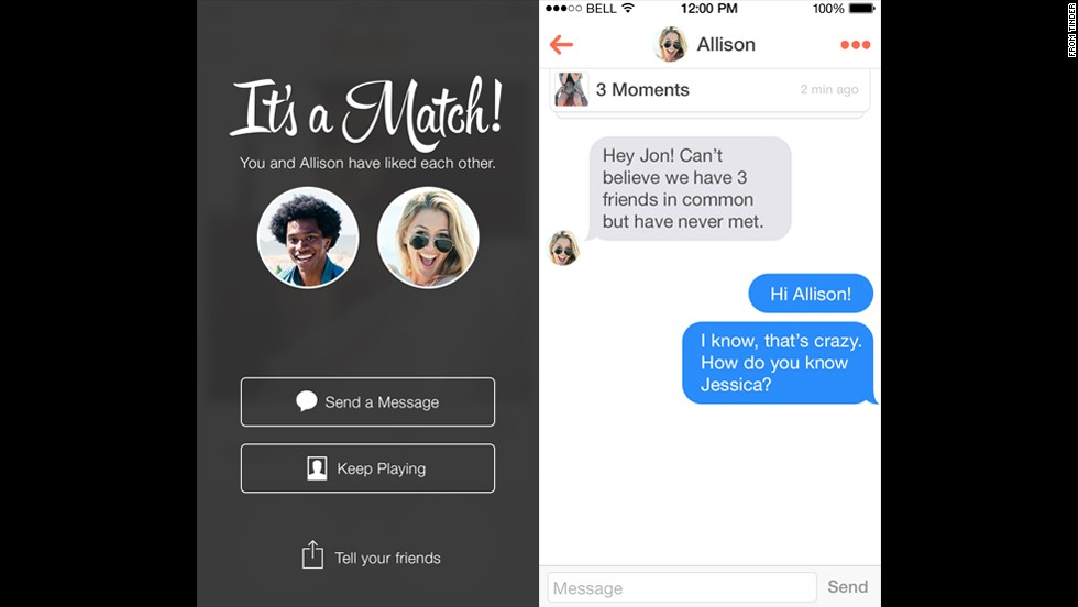 How does tinder hookup site work
