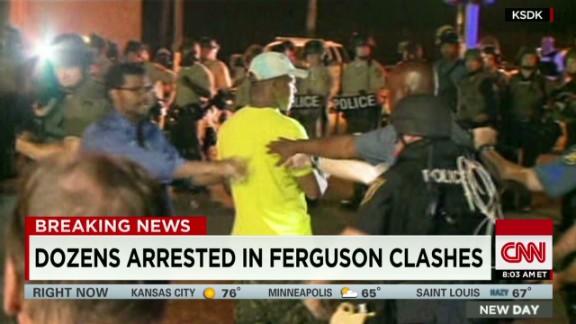 newday howell ferguson michael brown protest arrests_00004004.jpg