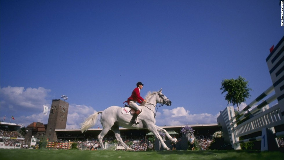 The first World Equestrian Games was staged in Sweden in 1990. Pictured is Britain's John Whitaker in the showjumping contest -- he won silver that year, while his younger brother Michael is in the British team for 2014.