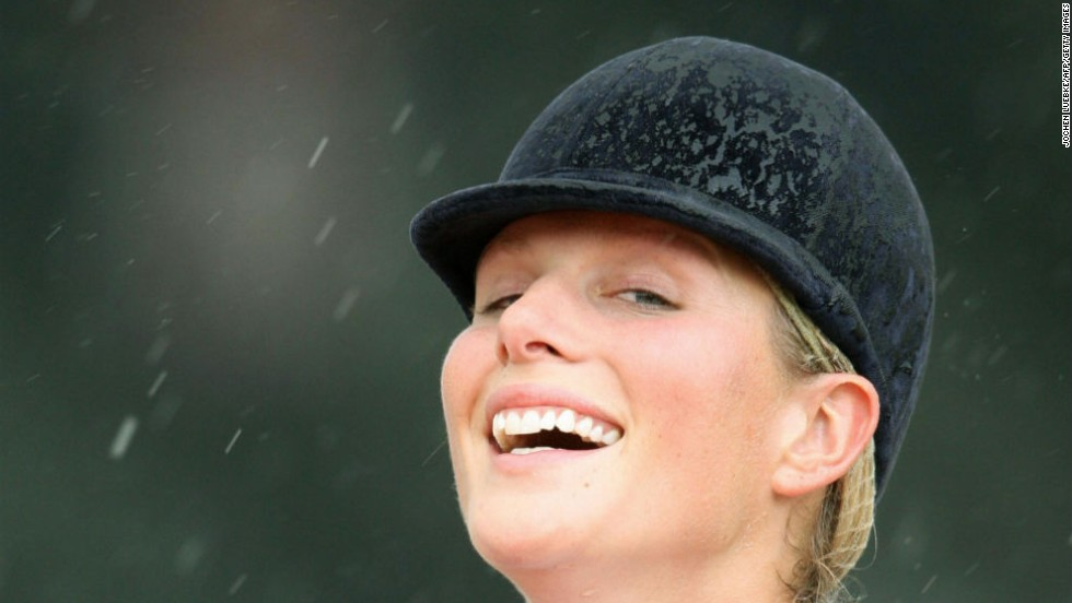 Phillips later found herself drenched when a storm rolled across the outdoor venue during her medal ceremony. She returns to the World Equestrian Games as a part of this year's British eventing squad.