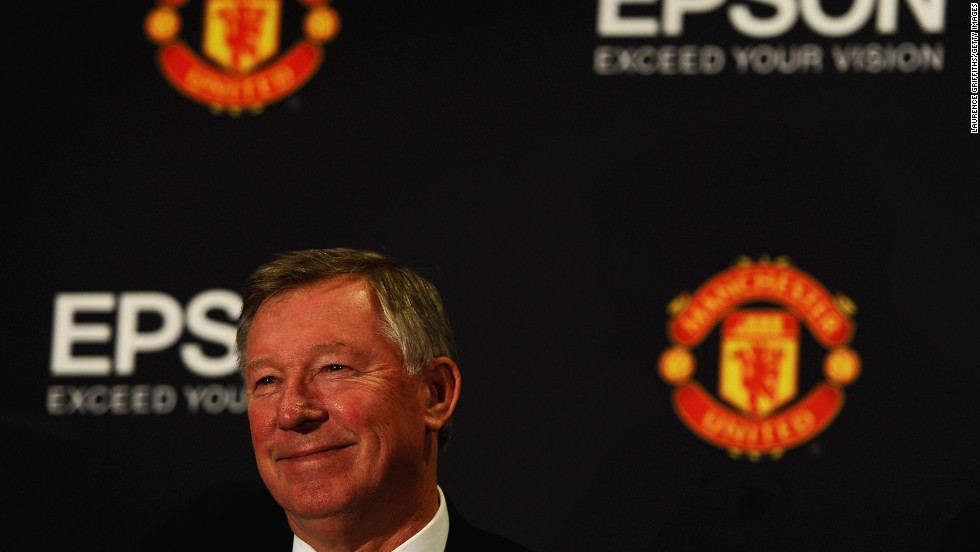 Former Man Utd manager Alex Ferguson was all smiles as a deal was announced in 2010 for Epson to become the official office equipment partner for the EPL giants.