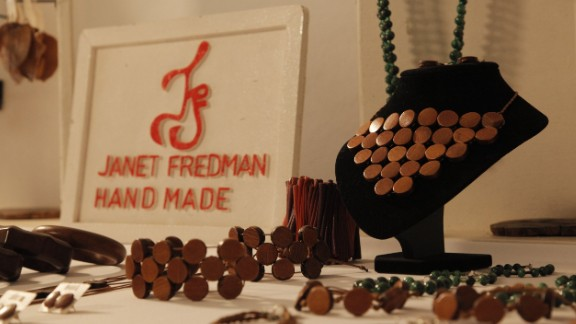 """Fredman hopes her designs will help her business grow into a jewelry empire so that """"everyone will be talking about it."""""""