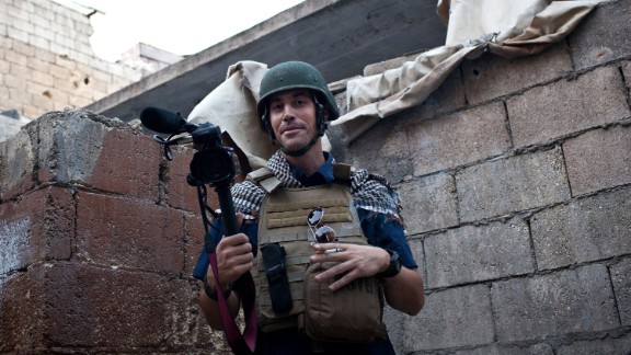 "(FILES) This file picture taken on November 5, 2012 in Aleppo shows US freelance reporter James Foley, who was kidnapped in war-torn Syria on November 22, 2012 and has been missing since, his family revealed on January 2, 2013. Slowly but inexorably the independent voices emanating from inside Syria disappeared as rebels linked to Al-Qaeda gained a stranglehold on large parts of opposition-held areas and the regime showed no sign of compromise. AFP PHOTO / NICOLE TUNG RESTRICTED TO EDITORIAL USE - MANDATORY CREDIT ""AFP PHOTO/HO/NICOLE TUNG"" - NO MARKETING NO ADVERTISING CAMPAIGNS - DISTRIBUTED AS A SERVICE TO CLIENTSNICOLE TUNG/AFP/Getty Images"