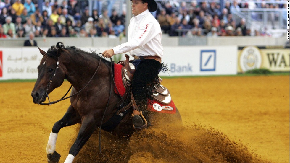 There is even a touch of the Wild West about the World Equestrian Games. The sport of reining has been compared to a cowboy's version of dressage, complete with a signature move: the sliding stop.