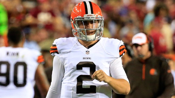 Quarterback Johnny Manziel #2 of the Cleveland Browns takes the field during a preseason game against the Washington Redskins at FedExField on August 18, 2014 in Landover, Maryland. (Photo by Rob Carr/Getty Images)