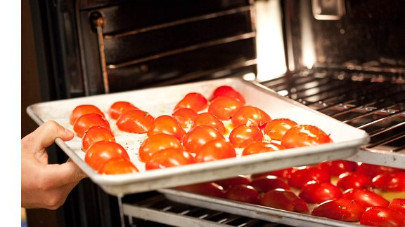 Oven roasted tomatoes are high in lycopene, an antioxident that may reduce risk for Alzheimer's and cancer.