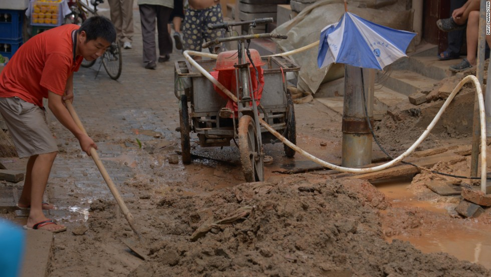 Water authorities say new residents of the community have built homes illegally over public water pipelines.