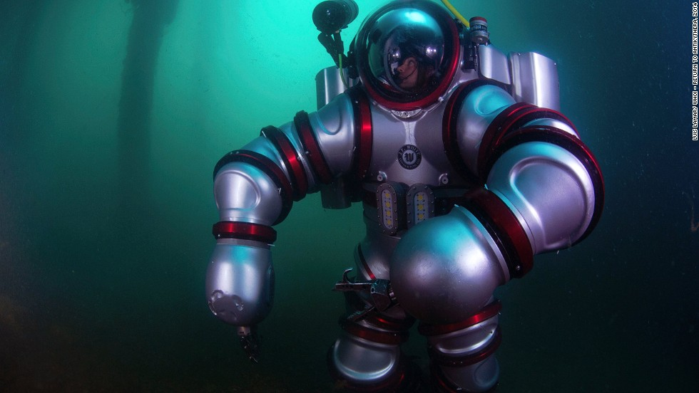 "The team used next-generation diving apparatus, the ""Exosuit.""  It was designed and created by underwater tech pioneer Phil Nuytten of Canada's Nuytco Research. ""You can literally operate Exosuit after a few hours of training. The majority of the training is spent in emergency drills. But the actual functioning of it is as simple as learning to drive a golf cart,"" said Nuytten."