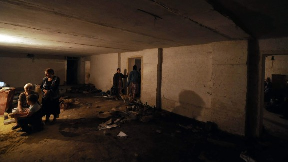 Many Donetsk residents have sought shelter underground. Many in Soviet or WWII era cellars.