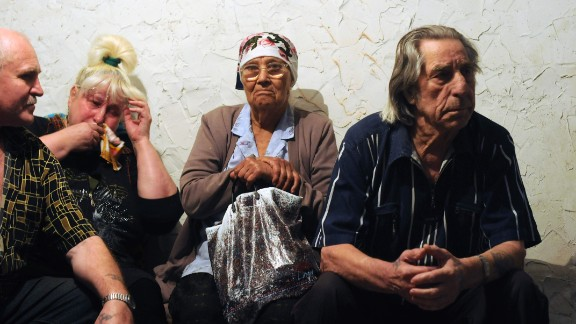 """""""You see some families that have remained there -- mostly elders and a lot of people that don't really have any money, they have to stay. You also get people who stay because they don't want to leave their homes,"""" Alpeyrie told CNN."""
