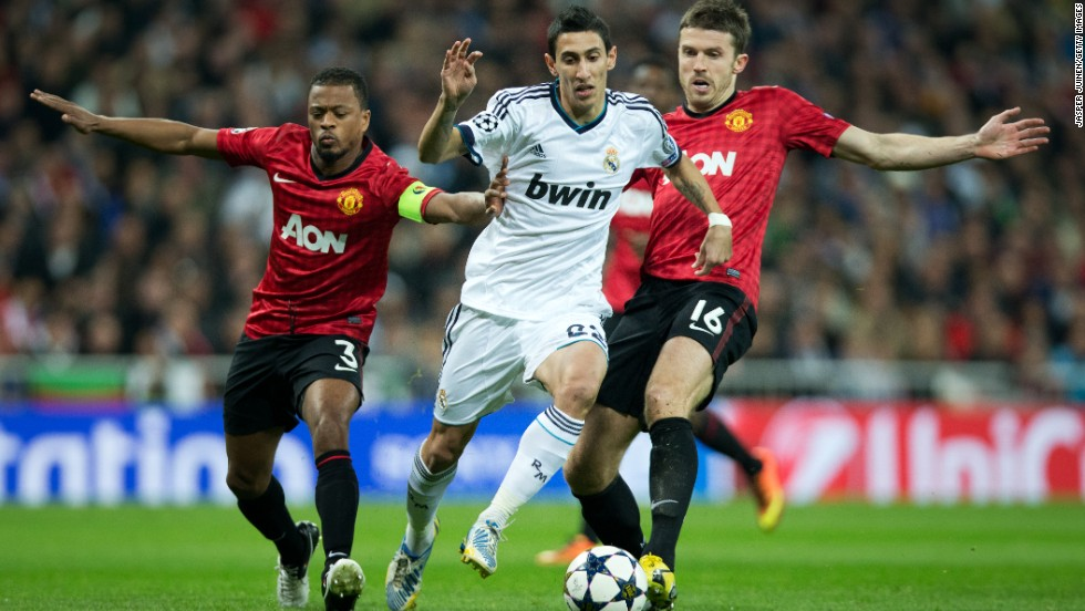 Di Maria's last appearance at Old Trafford was during Real's Champions League victory in 2013.