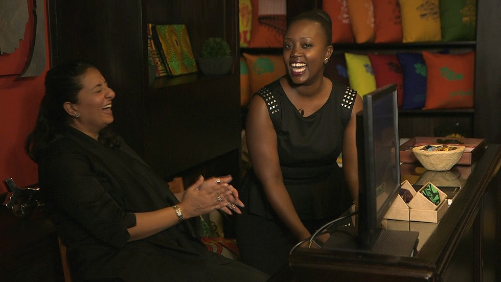 "Founders Olga Mugyenyi and Nahida Beghani  came up with their business idea in 2009. ""We felt like there weren't really any products or apparel in the market that really celebrated the local experience,"" says Mugyenyi."