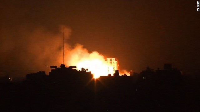 Hamas: Residential tower hit by Israel