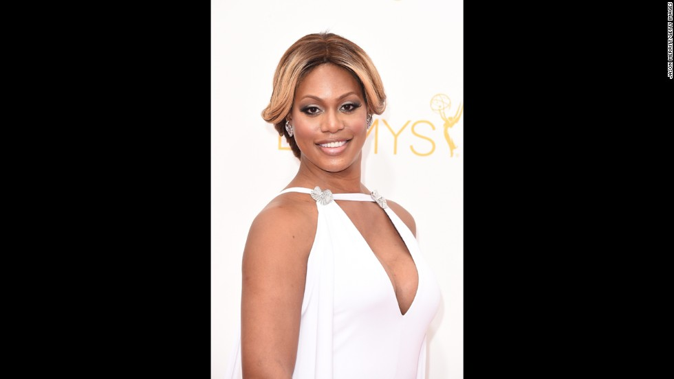 """Orange Is the New Black"" star Laverne Cox looked radiant on the red carpet in 2014."