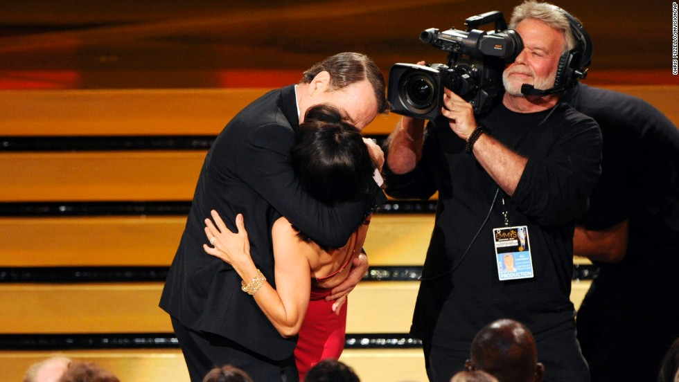 "For Julia Louis-Dreyfus' third consecutive win for outstanding lead actress in a comedy series, the ""Veep"" actress didn't just receive an Emmy. She was also awarded an impromptu passionate kiss from Bryan Cranston as she took the stage to accept the award. ""It was pretty good,"" Louis-Dreyfus later said backstage. ""He went for it. He goes for it in everything he does."""